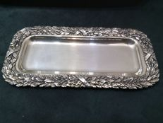 Pen Tray with Bay Leaves decoration - Argenterie Raspini -Arezzo - 1990s