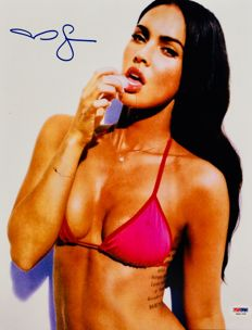 Megan Fox - Authentic Signed Autograph in Amazing Big Poster ( 28 x 35 cm ) - With Certificate of Authenticity PSA/DNA