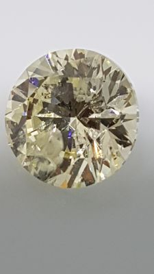 2.14 ct - Round Brilliant - White - I / SI2