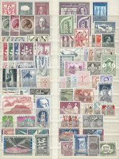 Belgium - Complete years 1956 up to 1960 OBP nos. 986 up to 1173A All stamps with the Blocks BL31 and BL32 and the stamps from blocks