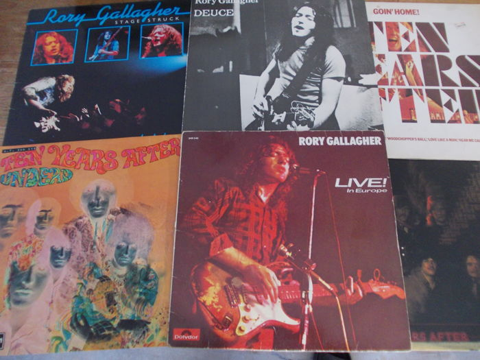 Nice Lot with 6 albums of 2 Great Blues Rock Artists: Rory Gallagher & Ten Years After