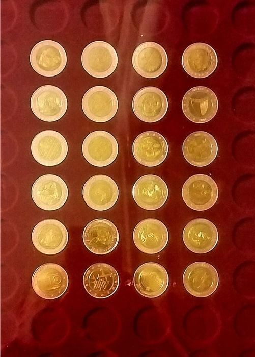 Europe 2 Euro Coins Emu Probe 19992009 24 Different Coins