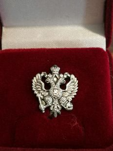 Imperial EAGLE silver plated badge/pin.