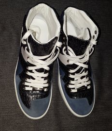 Christian Dior Homme - High top B19 leather trainers