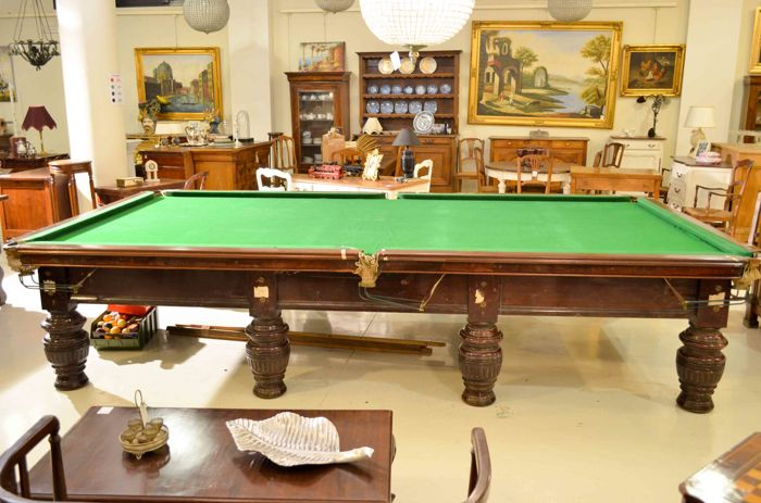 Pool table snooker full size 12fit burroughes for 1 4 size snooker table