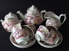 Petrus Regout - tea set Fancy - maastricht - approx 1860-1880