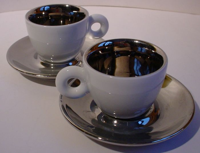 illy art collection two espresso cups and saucers by anish kapoor