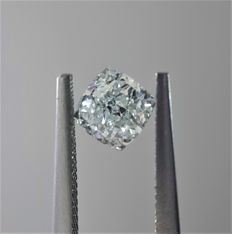 0.58ct Cushion Modified Cut Diamond Very Light Green VS1 #1012