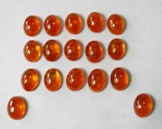 Marvelous spessartite garnet cabochon - 0.8 x 0.8 cm - 30.20 ct - 6.04 gm