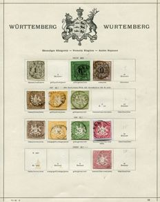 Württemberg 1851 – 1923 collection on old pre-prints