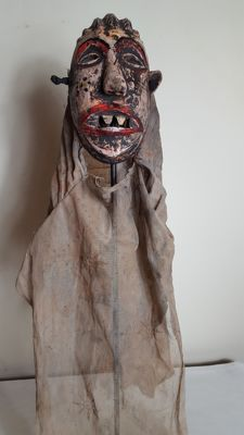 Old wooden African mask from MALAWI