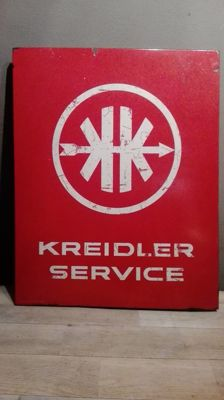 Beautiful enamel advertising sign for Kreidler - Rare!