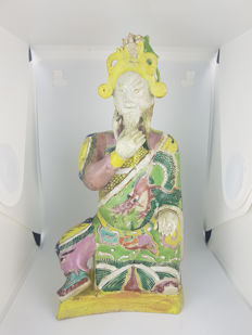 Chinese Porcelain Figure,  Famille Rose,  18th c