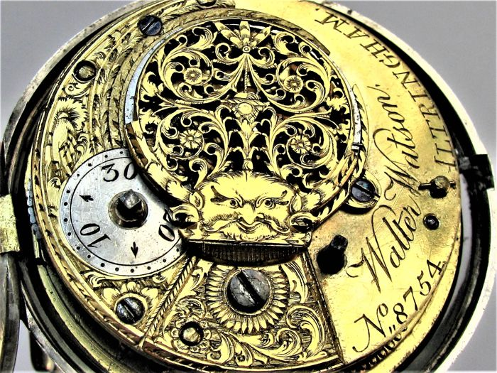 Walter Watson, Altringham - Verge fusee pocket watch - 8754 - Heren - Vóór 1850