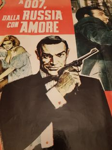 "Original poster of the famous movie ""007: From Russia with Love."