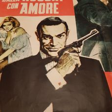 """Original poster of the famous movie """"007: From Russia with Love."""