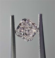0.91ct Square Modified Cut Diamond Faint Pink SI1 #1010