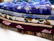 Large lot of antique mixed fabrics.