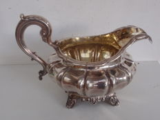 A George IV gilded silver milk jug / creamer - Edward, Edward junior, John & William Barnard - London - 1832