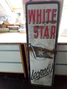 White Star enamel sign. 1951.