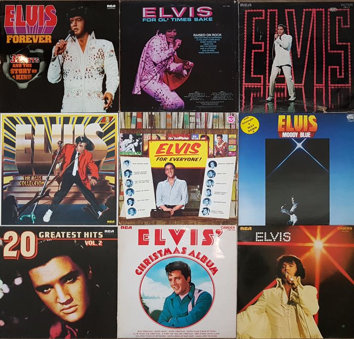 Bevorzugt Nice collection of Elvis' records: 9 Albums (10 original vinyl LPs  AA54