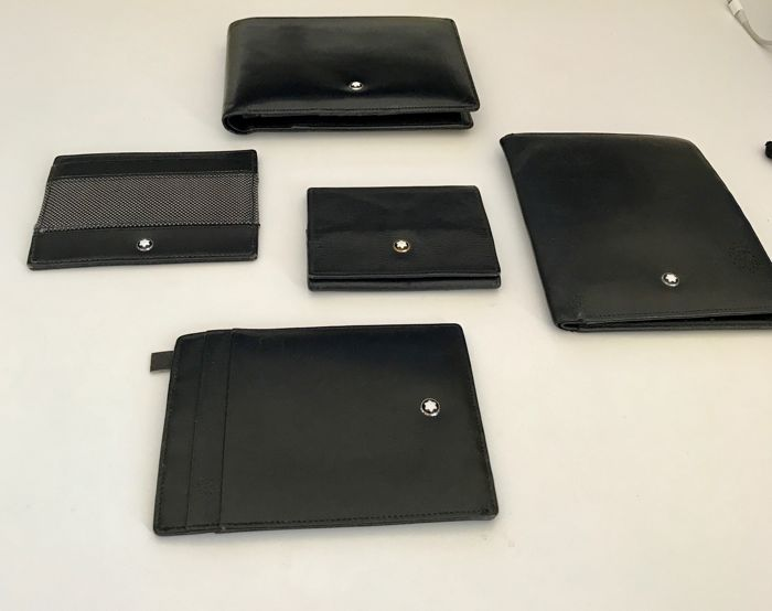 Very best Lot Mont Blanc of vertical wallet / horizontal wallet / document  JD56