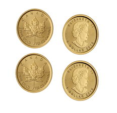 Canada - 2x1 CAD - Maple Leaf - 2 pieces 999.9 gold / gold coins