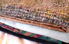 Large lot of antique mixed fabrics (one is by Missoni)