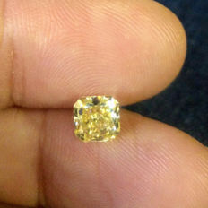 1.20 Carat Radiant Fancy Light Brownish Yellow VS2 GIA Certificate