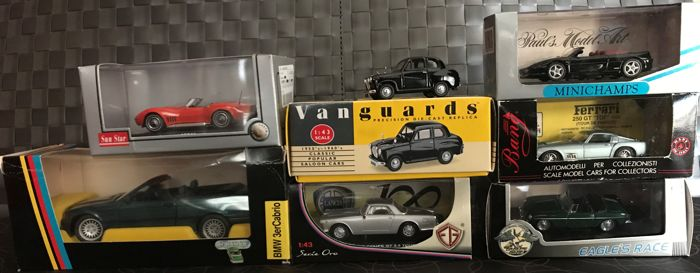 Different brands - Scale 1/43 and 1/24 - Lot with 7 cars