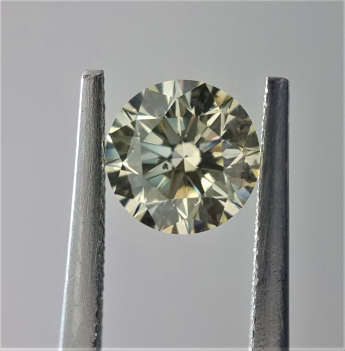 1.02 ct - Natural Round Brilliant Diamond - Y-Z Color - SI1 - VG/EX/EX - GIA