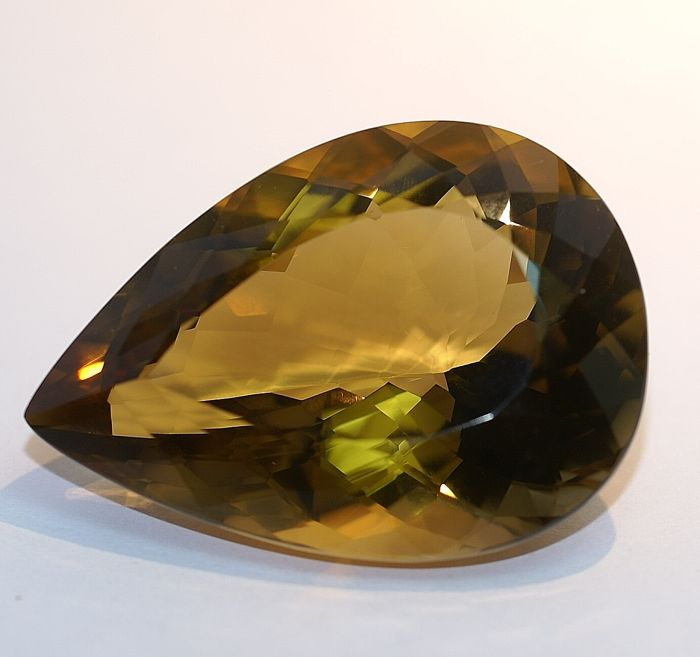 Citrine -Brownish- Yellow - 70.76 ct