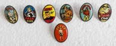 7 Comics pins Tweer &  Turck in especially good condition