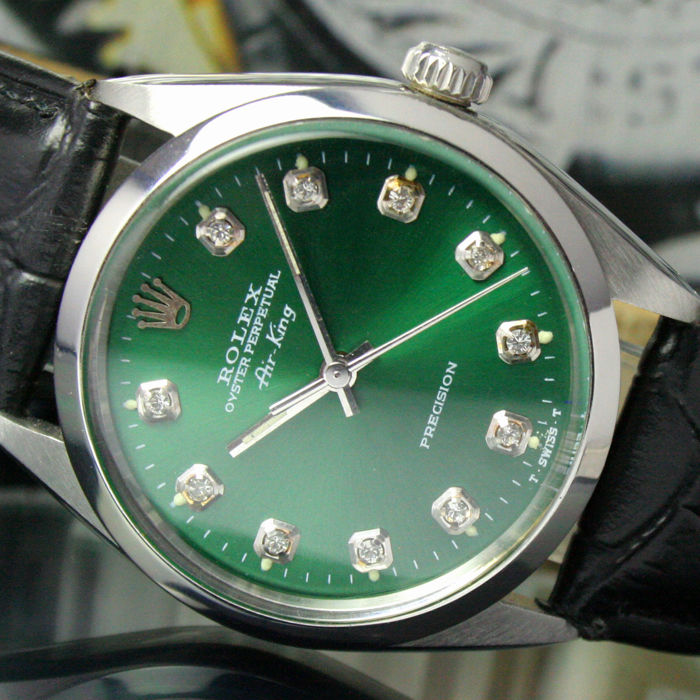 7fab648516e5a Rolex Oyster Perpetual Air-King Precision Automatic Steel Mens Watch Ref  5500   1002