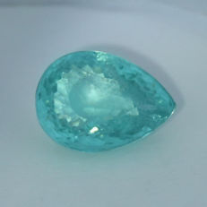 """ Neon Greenish Blue "" Paraiba Tourmaline - 4.08 ct."