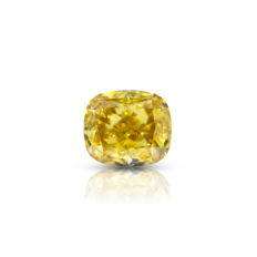 3.02 Ct. Natural Fancy Deep Brownish yellow VS2 Cushion shape Diamond