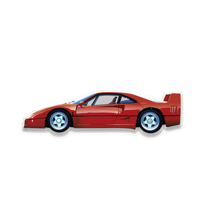 SL - Wall Scale Model Halmo Collection Ferrari F40