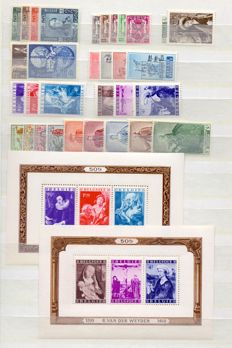 Beglium 1949 - Complete year with blocks - OBP 792 to 822 and BL27/28
