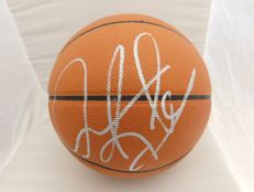 Original spalding basket ball signed by Dennis Rodman with certificate of authenticity