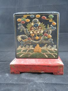 Old pieces lacquerware official seal box - China - early 20th century