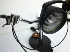 BICYCLE light converted to a table- annex desk lamp (220 volts)