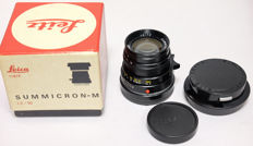 Leica Summicron M 50mm F2.0 in mint condition including lens hood