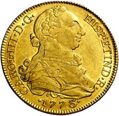Spain - Charles III (1759-1788) 8 gold escudos - 1773 - Madrid Rare