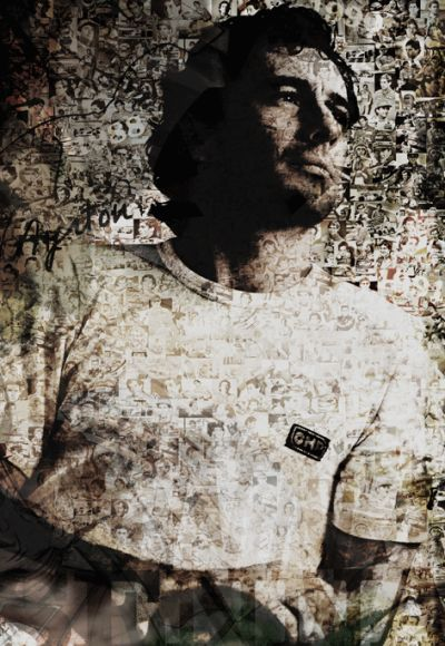 Limited edition of  Poster Ayrton Senna (Formula 1 legend) 60 x 84 cm original art by Caroline Llong.