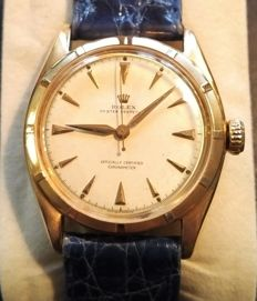 Rolex - ref. 6085 18 kt  - Rare Big Bubbleback in perfect condition - Men - 1950-1959