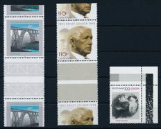 Federal Republic of Germany - 1998 - 2 horizontal pairs with perforation in the middle, Michel 1984ZW & 1931 ZW