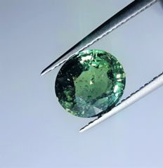 Big Greenish Blue Sapphire –  3.69 ct
