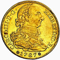 Spain - Carlos III (1759 - 1788), doubloon of 4 gold escudos Madrid, 1787 D·V