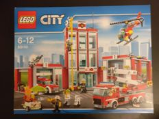 City - 60107 + 60108 + 60109 + 60110 - Fire Ladder Truck +  Fire Response Unit + Fire Boat + Fire Station
