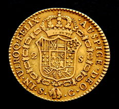 Spain - Carlos III - Doubloon of 2 Escudos 1788 Seville C - Gold